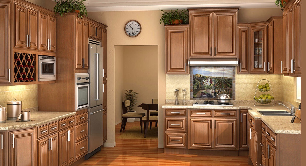 Glazed Saddle Kitchen Cabinets