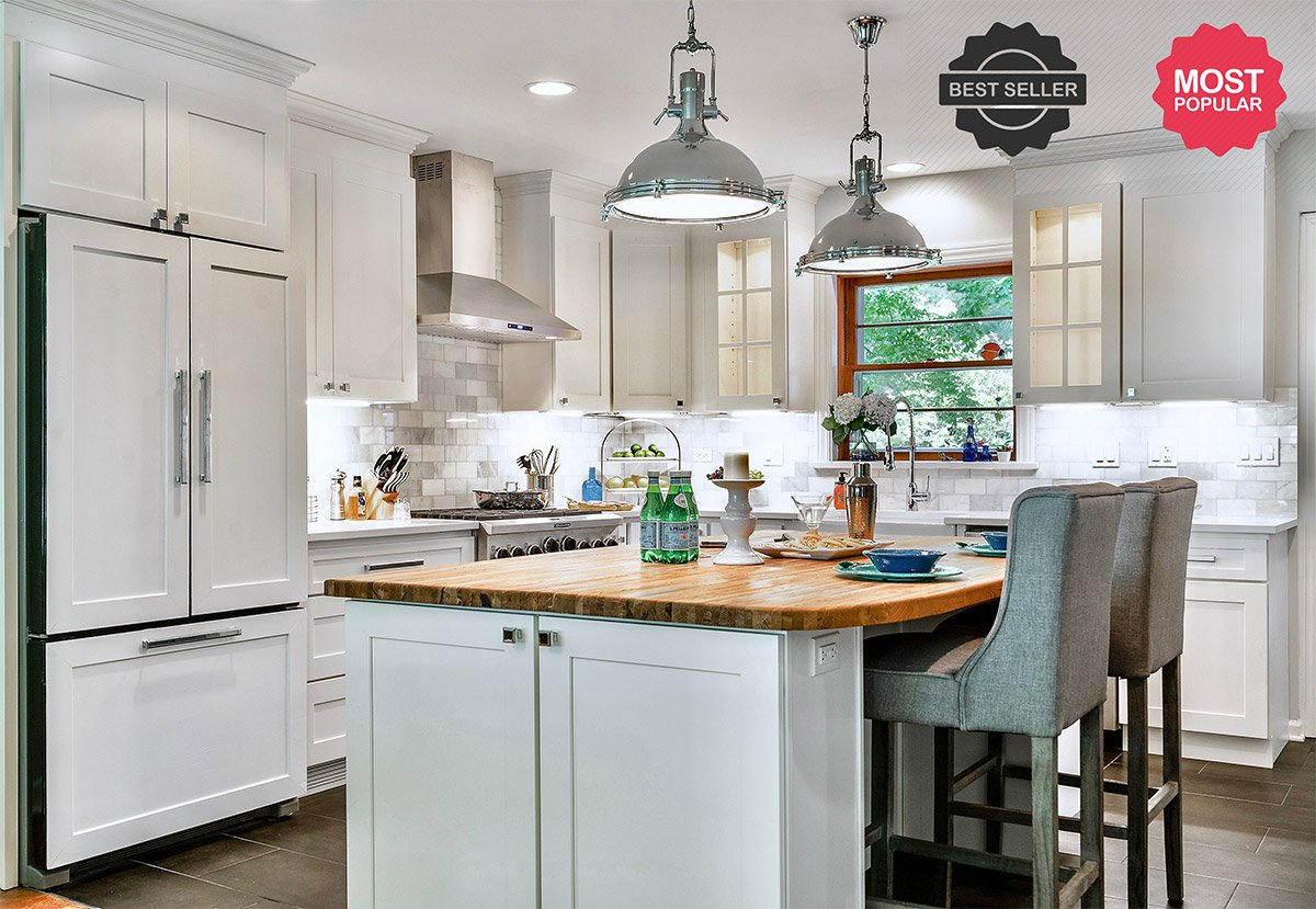 Windsor White Shaker Kitchen Cabinets