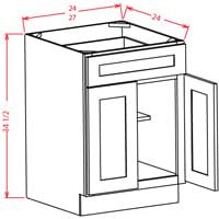 Superbe Cambridge White Double Door Base Cabinet