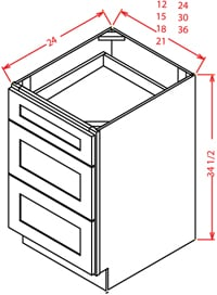 Cambridge White Drawer Base Cabinet
