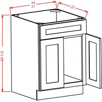 tacoma white vanity sink base cabinet 24w x 21d x 34 12h model vs24 tw - Bathroom Cabinets Tacoma